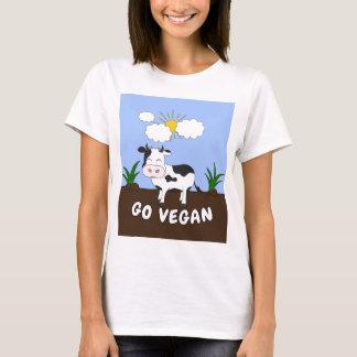 Camiseta Vai o Vegan - vaca bonito
