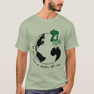Camiseta Vai o verde. Compita um carro de R/C