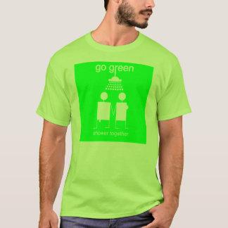 Camiseta Vai o verde - o T básico dos homens do chá junto