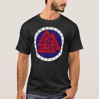 Camiseta Valknot com Futhark mais velho