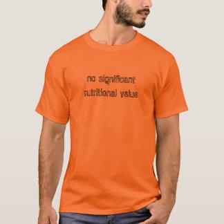 Camiseta valor nutritivo não significativo