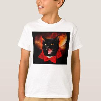 Camiseta vampiro do gato - gato preto - gatos engraçados