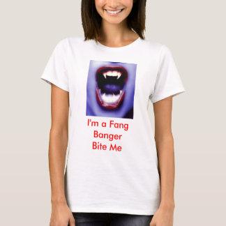 Camiseta vampy2, eu sou um colmilho BangerBite mim