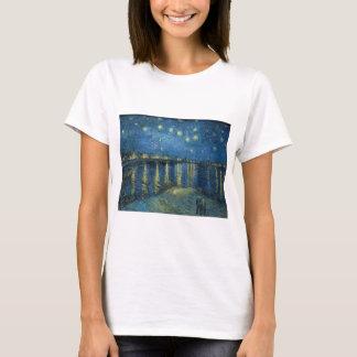 Camiseta Van Gogh: Noite estrelado sobre o Rhone