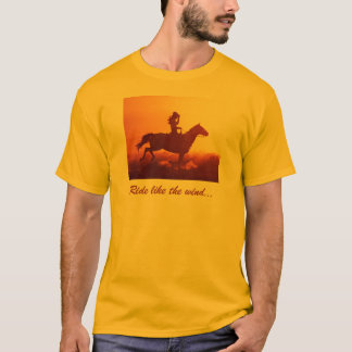 Camiseta Vaqueira em um cavalo