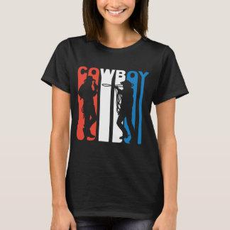 Camiseta Vaqueiro branco e azul vermelho