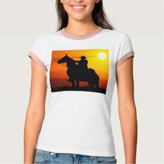 Camiseta Vaqueiro-Vaqueiro-luz do sol-ocidental-país do por