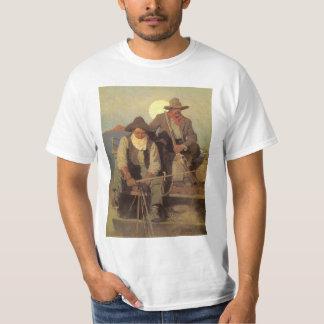 Camiseta Vaqueiros do vintage, o palco do pagamento por NC