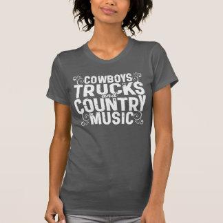 Camiseta Vaqueiros e música country dos caminhões