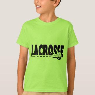 Camiseta Vara do Lacrosse preto e branco