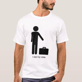 Camiseta Vara-Figura e pasta engraçadas