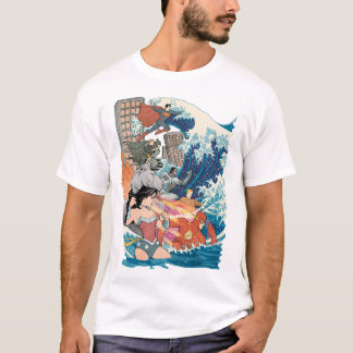 Camiseta Variação cómica do cobrir #15 da liga de justiça