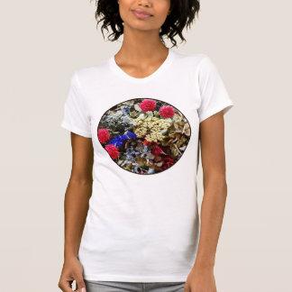 Camiseta Variedade de flores secadas