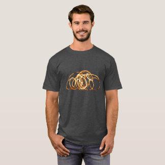 Camiseta Varinha do fogo - t-shirt do carvão vegetal dos