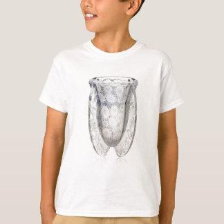Camiseta Vaso de vidro claro do art deco com flores