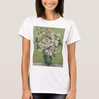 Camiseta Vaso de Vincent van Gogh dos rosas que pintam a