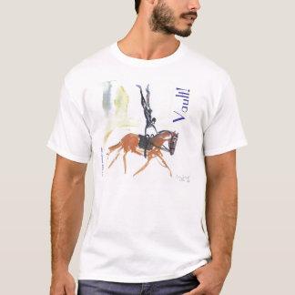 Camiseta Vault!  Abóbada equestre 2 tomada partido