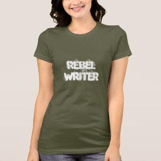 Camiseta vazio rebelde do t-shirt   do escritor para trás