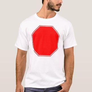 Camiseta Vazio/sinal customizável da parada na parte