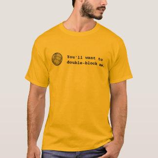 Camiseta vball, você quererá o dobro-bloco mim