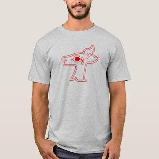 Camiseta Veado vermelho de néon