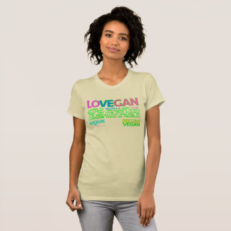CAMISETA VEGAN DO AMOR. T-CAMISA