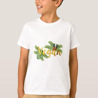 Camiseta Vegan do ouro com abacaxis