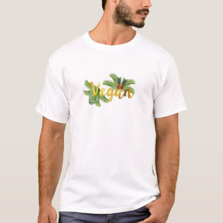Camiseta Vegan do ouro com abacaxis