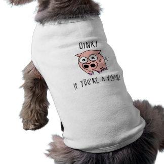 Camiseta Vegan do porco