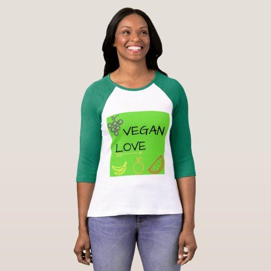 Camiseta Vegan Love
