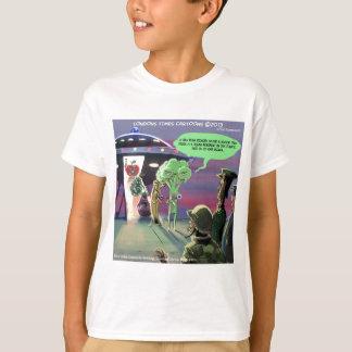 Camiseta Vegan para fora espaçado engraçado
