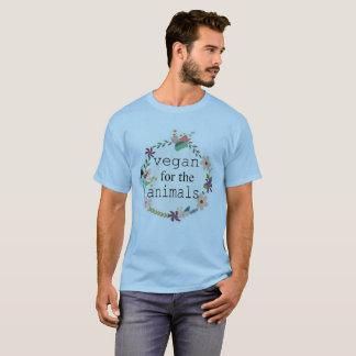 Camiseta Vegan para o t-shirt do design floral dos animais