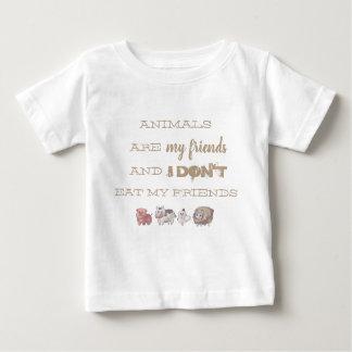 camiseta Vegana - Animals are my friends