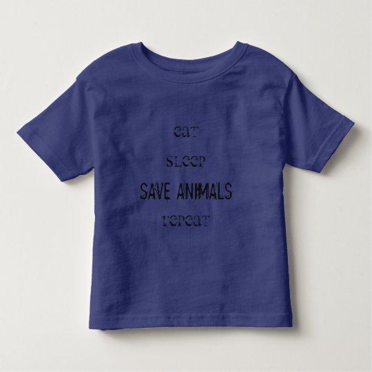 Camiseta Vegana - Eat, Sleep, Save Animals, Repeat