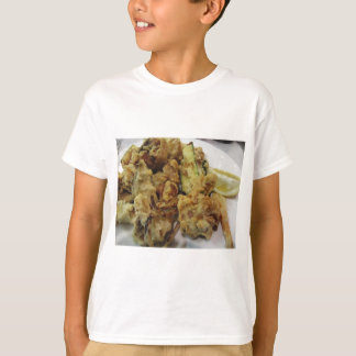 Camiseta Vegetais crocantes panados e fritados com limão
