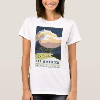 Camiseta Veja a boa vinda de América às viagens vintage de