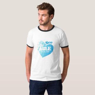 Camiseta Veja o capaz não o presente da consciência do