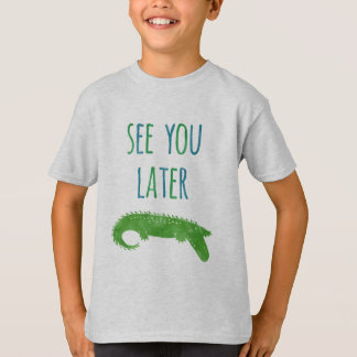 Camiseta Veja-o miúdos engraçados de um jacaré mais