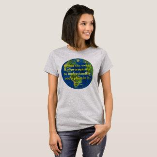 Camiseta Veja o mundo