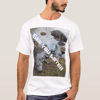 Camiseta Veja-o um t-shirt mais atrasado do jacaré