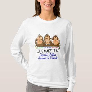 Camiseta Veja que para falar não ouça nenhum autismo 2
