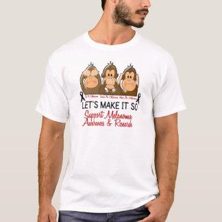 Camiseta Veja que para falar não ouça nenhum cancer de pele