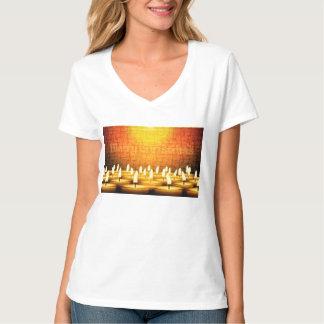 Camiseta Velas ardentes - Feliz Natal