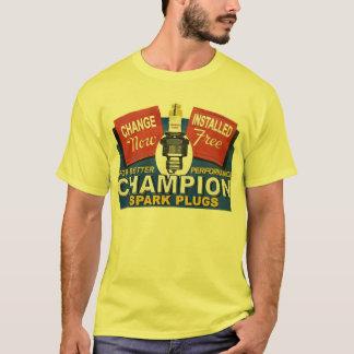 Camiseta velas de ignição do campeão