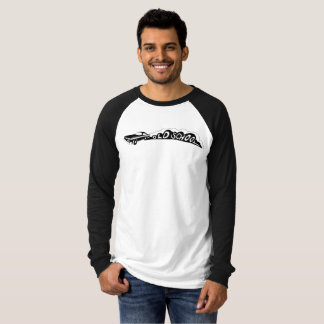Camiseta Velha escola Camaro - t-shirt do Raglan dos homens