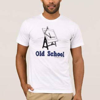 Camiseta Velho-Escola-Esboçar-Conselho-azul
