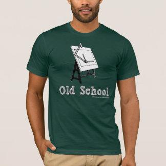 Camiseta Velho-Escola-Esboçar-Conselho-branco