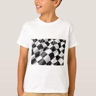 Camiseta Velocidade preto e branco do revestimento da