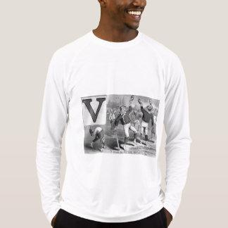 Camiseta Vencedor inicial do vintage da rima do jogador de