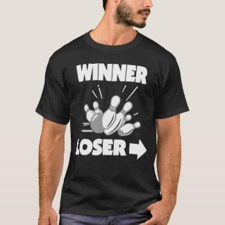 Camiseta Vencido engraçado do vencedor da boliche